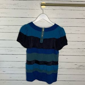 Marc By Marc Jacobs Tops - Marc by Marc Jacobs RARE Blue and Black Panel Top